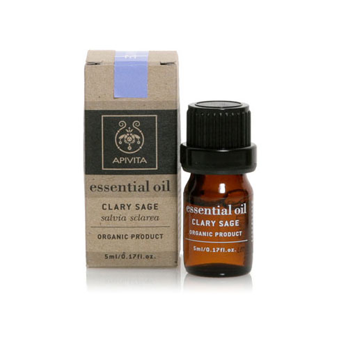 Apivita (Αιθέριο Έλαιο) Essential Oil Clary Sage 5ml