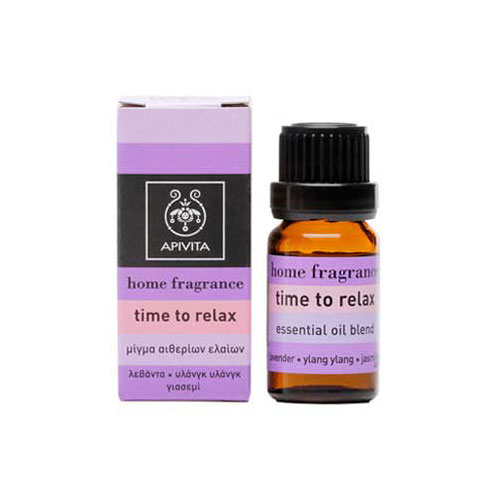 Apivita Essential Oil Time To Relax 10ml (Αιθέριο Έλαιο Time to Relax)