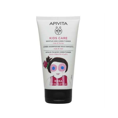 Apivita Kids Care Gentle Kids Conditioner 150ml (Παιδικό Conditioner με Τριαντάφυλλο & Μέλι)