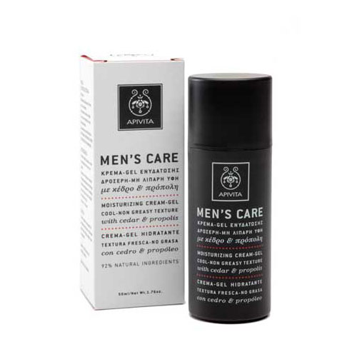 Apivita Mens Care Gel  Moisturizing Cream - Gel with Cedar & Propolis 50ml (Τζελ Ενυδάτωσης με Κέδρο & Πρόπολη)