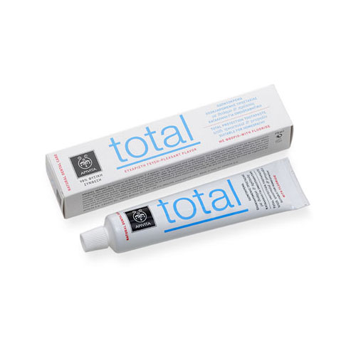Apivita Toothpaste Total Protection with Spearmint & Propolis75ml (Οδοντόκρεμα με Δυόσμο & Πρόπολη)