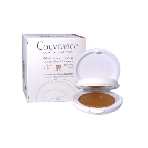 Avene Couvrance Correcteur De Teint Confort Nο3 Sable SPF30 10gr (Make Up σε Μορφή Κρέμας - Φυσική Απόχρωση)