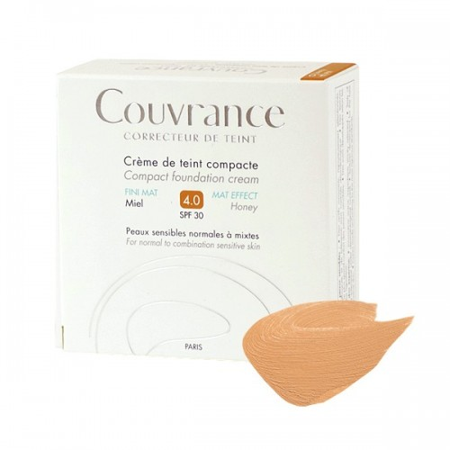 Avene Couvrance Compact Confort Miel 4.0 SPF30 10gr (Make Up σε Κρεμώδη Υφή)
