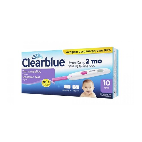 Clearblue Digital Ovulation Test 10τεμ (Ψηφιακό Τεστ Ωορρηξίας 10τεμ)