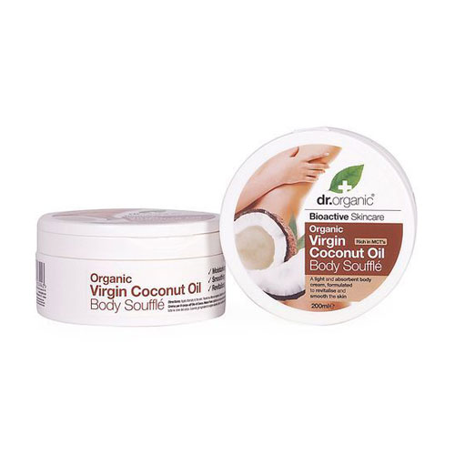 Dr.Organic Coconut Oil Body Souffle 200ml
