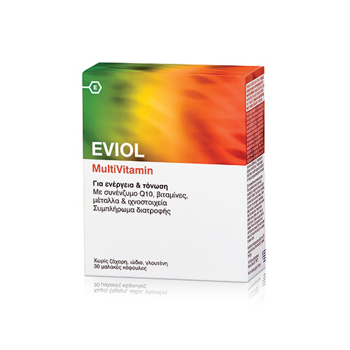 Eviol Food Supplements Multivitamin 30 caps (Ενέργεια - Τόνωση)