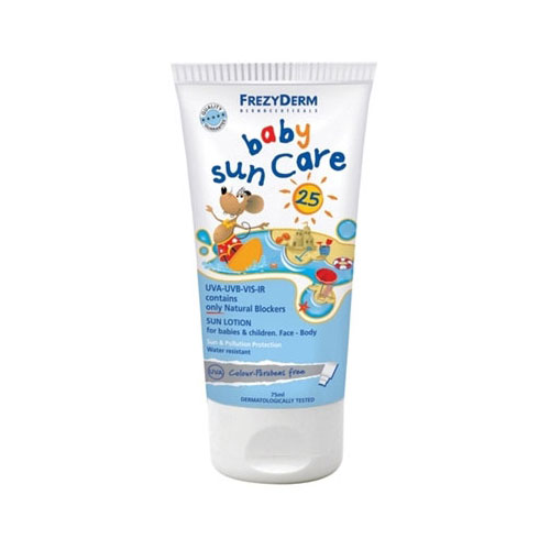 Frezyderm Sun Care Baby SPF25 100ml (Βρεφικό Αντηλιακό Γαλάκτωμα Με Φυσικά Φίλτρα)