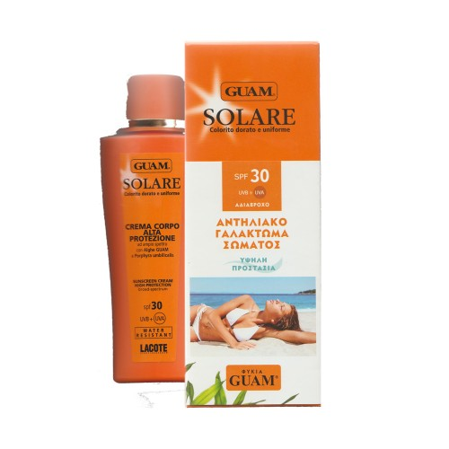 Guam Solare Sunscreen Cream High Protection Golden Tan 150ml (Αντηλιακό Γαλάκτωμα Σώματος SPF30)