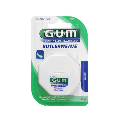 Gum Dental Floss Waxed 54m (1155)