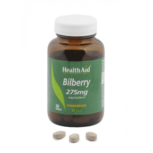 Health Aid Bilberry Berry Extract 30 tab (Όραση - Μάτια)