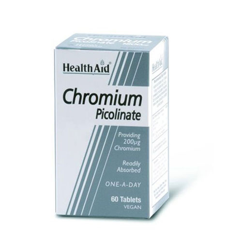 Health Aid Chromium Picolinate 200mg 60tab (Καρδιά - Κυκλοφορικό)