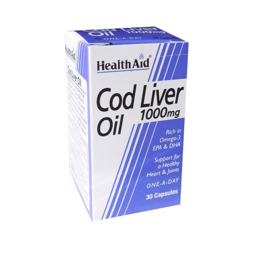 Health Aid Cod Liver Oil 1000mg 30cap (Μουρουνέλαιο)