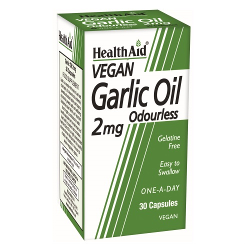 Health Aid Garlic Oil Vegeterian 2mg 30caps (Ανοσοποιητικό - Πίεση)