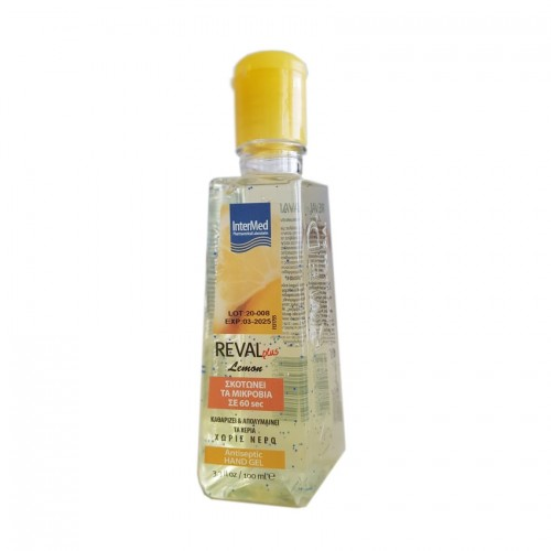 Intermed Reval Plus Lemon Antiseptic Hand Gel 100ml (Αντισηπτικό Τζελ Χεριών)