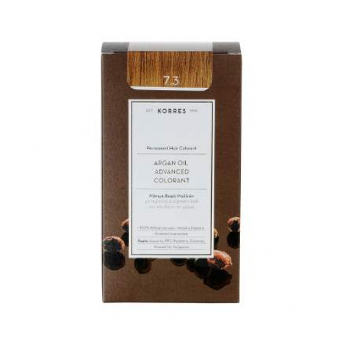 Korres Argan Color Golden Honey Blonde 7.3 (Ξανθό Χρυσό / Μελί)