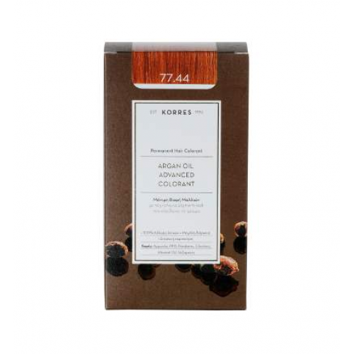 Korres Argan Color Intense Copper Blonde 77.44 (Ξανθό Εντονο Χάλκινο)