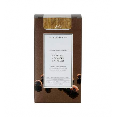 Korres Argan Color Light Blonde 8.0 (Ξανθό Ανοικτό)