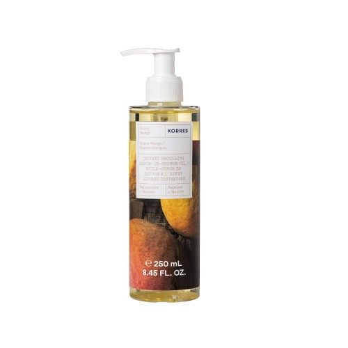 Korres Instant Smoothing Serum-In-Shower Oil Guava Mango 250ml (Ενυδατικό Serum Oil Σώματος Μάνγκο)
