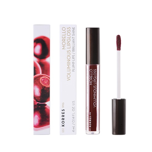 Korres Morello Voluminous Lipgloss No58 Bloody Cherry 4ml (Λιπ Γκλος Μπορντό Απόχρωση)