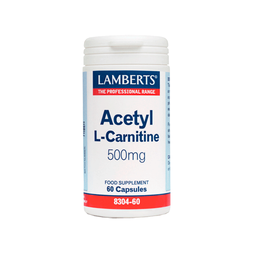 Lamberts Acetyl L Carnitine 500mg 60caps (Αμινοξέα)