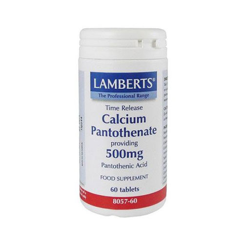 Lamberts Calcium Pantothenate 500mg 60tabs (Βιταμίνη Β5)