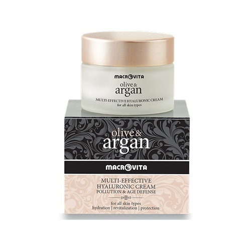 Macrovita Olive & Argan Multi- Effective Hyaluronic Cream Pollution & Age Defense 50ml (Κρέμα Προσώπου με Υαλουρονικό Οξύ)