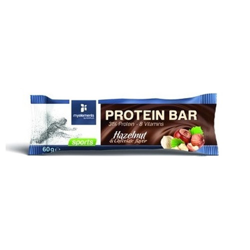 My Elements Protein Bar Hazelnut & Chocolate Flavor 60gr (Μπάρα Πρωτεΐνης)