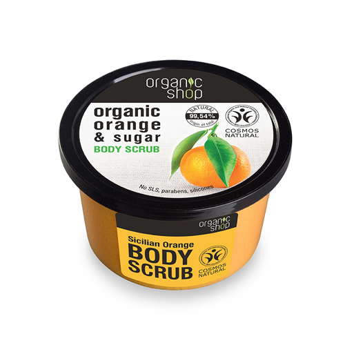 Natura Siberica Organic Shop Body Scrub Sicilian Orange 250ml (Scrub Σώματος Πορτοκάλι)
