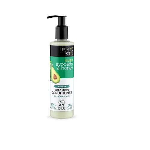 Natura Siberica Organic Shop Repairing Conditioner Organic Avocado & Honey 280ml (Conditioner Επανόρθωσης - Απαλότητας & Ζωντάνιας)