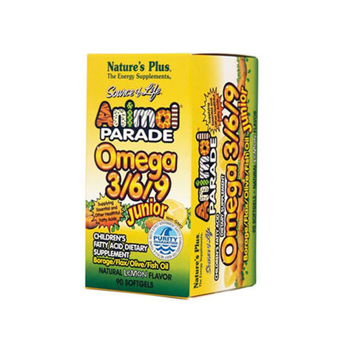 Natures Plus Animal Parade Omega 3 6 9 Junior 90cap (Λιπαρά Οξέα)