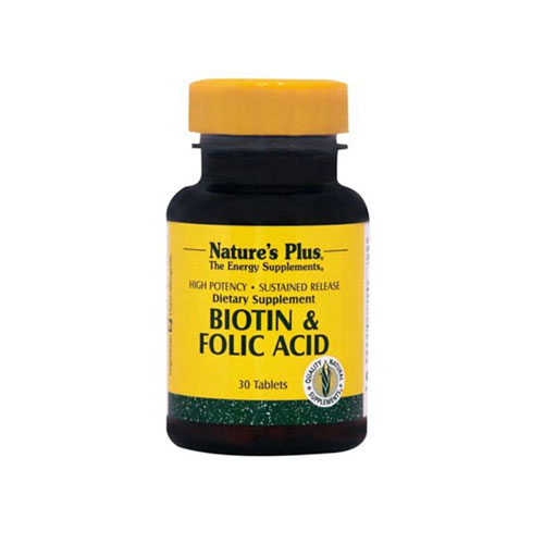 Natures Plus Biotin Folic Acid 30tabs (Δέρμα - Μαλλιά - Νύχια)
