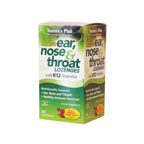 Natures Plus Ear Nose And Throat 60 Lozenges (Κρυολόγημα)