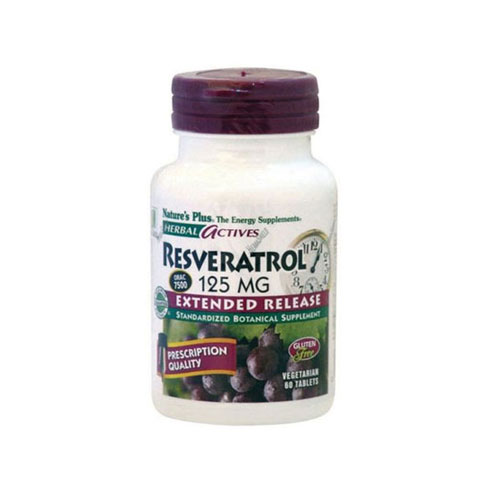 Natures Plus Extended Release Resveratrol 60tab (Αντιοξειδωτικά)