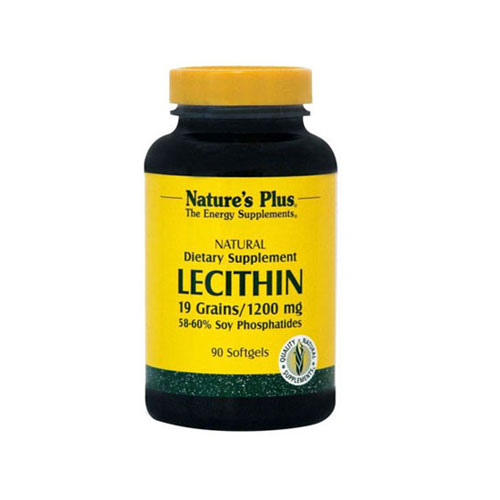 Natures Plus Lecithin 1200mg 90cap (Καρδιά-  Ηπατικές Παθήσεις - Αδυνάτισμα)