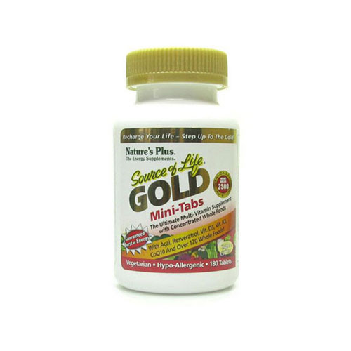 Natures Plus Source Of Life Gold Mini 180tab (Πολυβιταμίνες)
