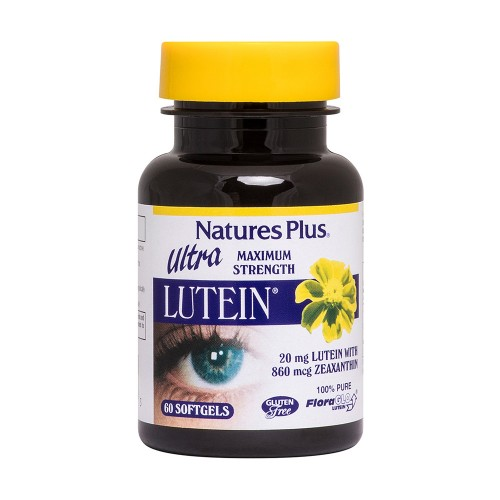 Natures Plus Ultra Lutein 20mg 60 softgels (Ενίσχυση Όρασης)
