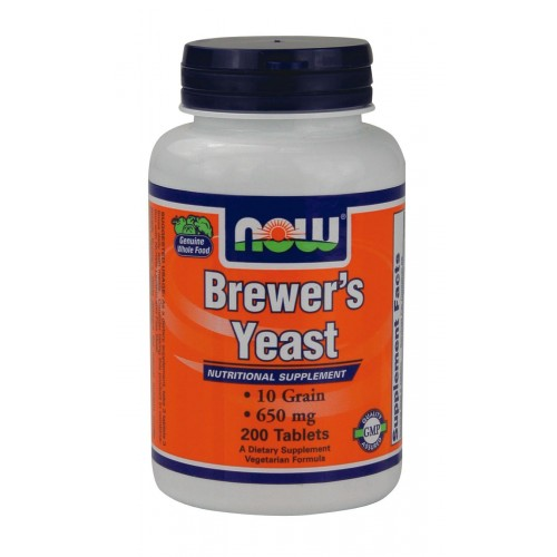 NOW Brewers Yeast 650mg 200tabs