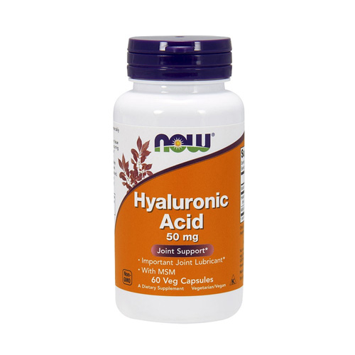 Now Foods Hyaluronic Acid 50mg & MSM 60vcaps