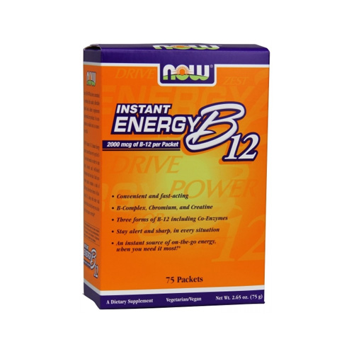Now Foods Instant Energy B12 75 Packets