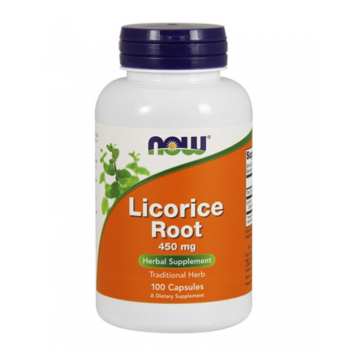NOW Licorice Root 450mg 100caps (Γλυκόριζα)