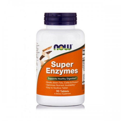 NOW Super Enzymes 90 tabs (Πεπτικά Ένζυμα)