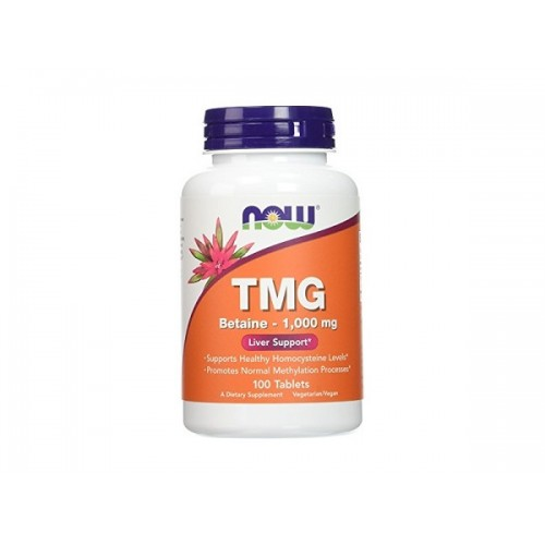 NOW TGM Betaine (Trymethylglycine) 1000mg 100tabs