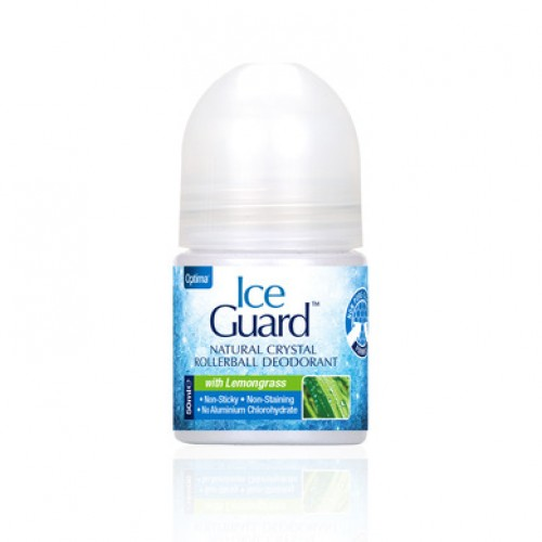Optima Ice Guard Natural Crystal Rollerball Deodorant With Lemongrass 50ml (Άρωμα Λεμονόχορτο)