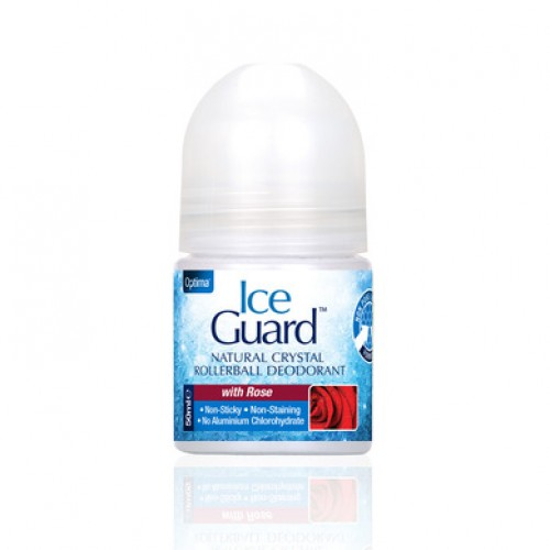 Optima Ice Guard Natural Crystal Deodorant Rose 50ml (Άρωμα Τριαντάφυλλο)