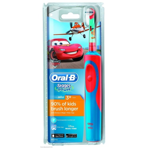Oral B Braun Vitality Stages Power Disney Cars Kids Toothbrush 3+ (Παιδική Ηλεκτρική Οδοντόβουρτσα)