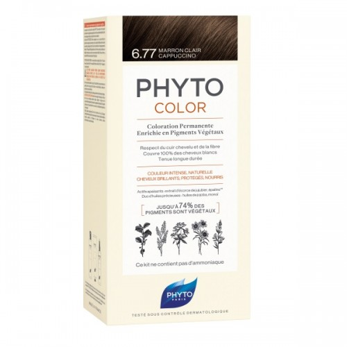 Phyto Phytocolor 6.77 Marron Clair Cappuccino (Μαρόν Ανοιχτό Καπουτσίνο)