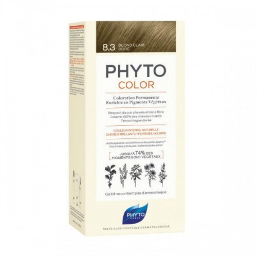 Phyto Phytocolor 8.3 Blond Clair Dore (Ξανθό Ανοιχτό - Χρυσό)