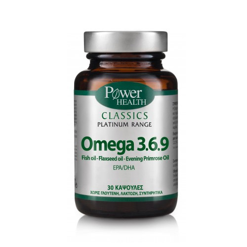 Power Health Classics Platinum Omega 3 6 9 30 caps (Ωμέγα Λιπαρά Οξέα)