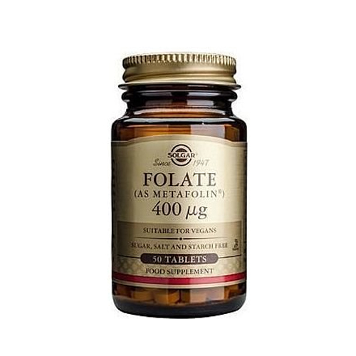 Solgar Folate (As Metafolin) 400μg 50tabs (Φολικό Οξύ)
