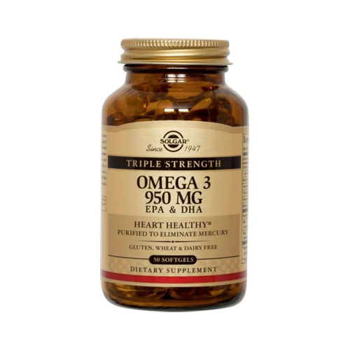 Solgar Omega 3 Triple Strength 50softgels (Ω3 λιπαρά οξέα)